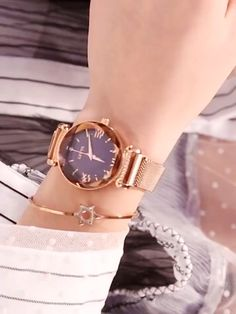 Star Lady Quartz Watch Cool Watches For Women, Stylish Watches, Watch Video, Make Time, Quartz Watch, Fashion Watches, Bracelet Watch, Girly, Stars