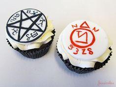 Devils trap and angel banishing symbols - Angel food cake, devil's food cake. Haha.