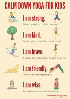 Calm down yoga routine for kids. Could you use one in your classroom?