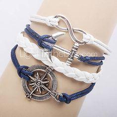 [EUR € 4.12] Anchor Infinite braccialetto del tessuto
