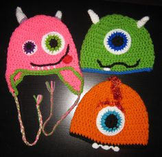 Monster Hats by ByNataly on Etsy, $15.95