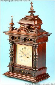 Reloj de Sobremesa Junghans De Finales del siglo XIX