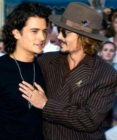 Orlando Bloom and Johnny Depp