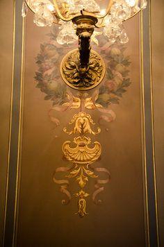L'Hôtel de Ville de Paris   Flickr - Photo Sharing! Stencil Designs, Wall Art Designs, Mural Art, Wall Murals, Fresco, Wall Painting Decor, Stencils, Painted Drawers, Home Decor Mirrors
