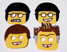 Full face Lego  felt masks/ Kids  masks/ Batman Lego, Emmett/ Wild Style, Uni Kitty, Mr. Business