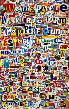 Collage by Pop Artist Michael Albert, made from cereal box cutouts. Take a moment to read it. Famous Collage Artists, Wort Collage, Class Auction Projects, Owl Tattoo Drawings, Ecole Art, Teaching Art, Teaching Ideas, Art Club, Art Sketchbook