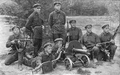 Red Army soldiers with the maxim gun during the late 1920s. by tormentor4555, via Flickr
