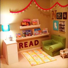 Image result for book corner ideas