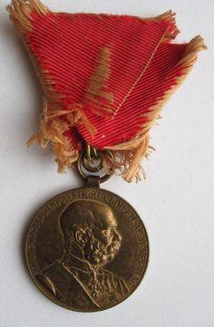 Медаль в память 50-летия восхождения императора Франца Иосифа I (1848-1916 гг.) на Австро-Венгерский престол. Австро-Венгрия