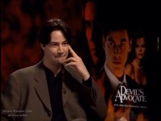 """Ahaha I love it when keanu gets angry, while wanting to keep calm , after a journalist who has not seen his film """" devil's advocate"""" and… Keanu Charles Reeves, Keanu Reeves, Archive Video, The Devil's Advocate, River Phoenix, Beautiful Soul, This Man, Comedy, Love You"""