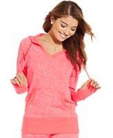 Material Girl Active Juniors' Heathered Hooded Sweatshirt