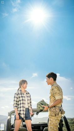 Descendants of the Sun-Korean Drama_Song Joong-ki x Song Korean Drama Songs, Korean Drama Best, Kpop Couples, Cute Couples, Korean Actors, Korean Celebrities, Descendants Of The Sun Wallpaper, Song Hye Kyo Descendants Of The Sun, Decendants Of The Sun