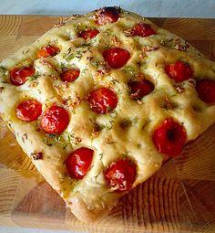 Tomato Thyme Garlic Focaccia Bread.
