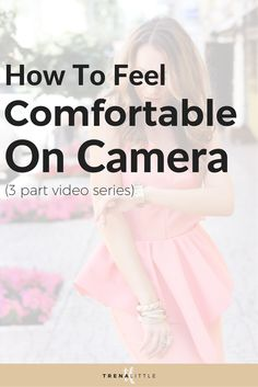 You want to create video content but you just aren't comfortable on camera.  In this three part series I'm teaching you how to be comfortable on camera and tips to get confident on camera.