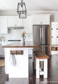 DIY Kitchen Benches   simply kierste.com