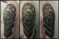 Cover up tattoo using an armor piece