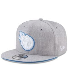New Era Tennessee Titans Heather Hot 9FIFTY Snapback Cap - Gray Adjustable