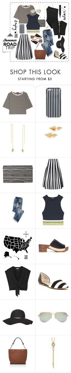 """Road Trippin'"" by mathilda-moo ❤ liked on Polyvore featuring TIBI, J.Crew, Vita Fede, Post-It, Alice + Olivia, Alexander Wang, Wrap, rag & bone, Rosetta Getty and 14th & Union"