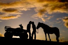 This would be cute for an engagement picture but a truck not a wheeler
