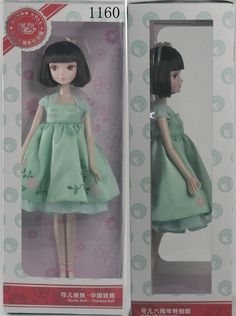 OMISS Fashion Style Doll whith Green Dress Bob hair ^^ Discover this special product, click the image : Collectible Dolls for Home Decor
