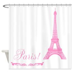 sold 1 of my popular chic Pink Eiffel Tower Paris Shower Curtains