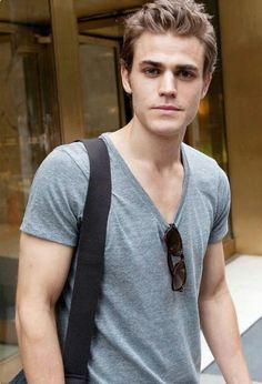 Paul Wesley. In a T-shirt. Sexy as hell.