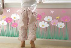 FLOWERS Princess Room, Dramatic Play, Vinyl Wall Art, Twiggy, Girl Room, Lily, Nursery, Children, Flowers