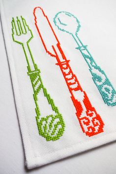 Cross Stitch: Fine Dining by Sewing Daisies, via Flickr
