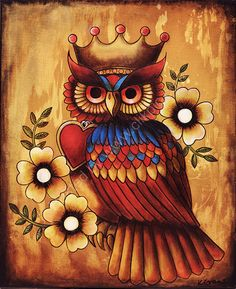 'Owl and Crown' by Kerry Evans