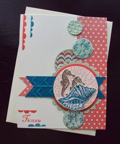 Stampin Up - By the Tide card made by paperecstasy.blogspot.com