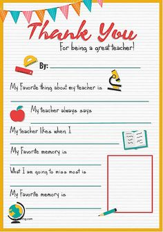 printable-thank-you-cards-from-teachers-to-students-elegant-thank-you-teacher-a-free-printable-of-printable-thank-you-cards-from-teachers-to-students.jpg 565×800 pixels Teacher Gifts, Diy Gifts, School, Children, Ideas, Toddlers, Boys, Presents For Teachers, Diy Presents