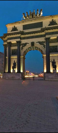 Triumphal Arch in Moscow, #Russia. It was built in 1829 – 1834 in order to commemorate Russia's victory over Napoleon.