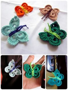 Knitted butterfly