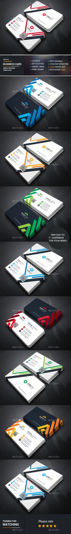 Business Card Design Bundle - Business Cards Template PSD. Download here: https://graphicriver.net/item/business-card-bundle/16939246?s_rank=190&ref=yinkira