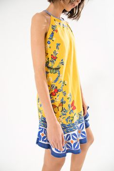 392f5cb832c7 Little Printed Yellow Summer Dress - Formenteira Mini Dress. Brunch In The  CityYellow ...