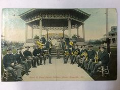 Danville, IL - Soldiers' Home - Band & Band Stand - Vintage Original Postcard - Year?