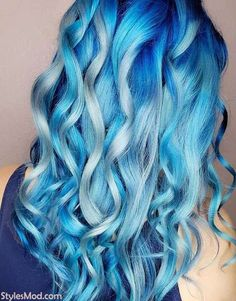 Gorgeous Ice Blonde Blue Hair Color Shade To Try In Find Here the Stunning ideas of Blue Hair Color Highlight with Blonde styles in If you are ready to get the stylish look then you need to must try this fabulous idea in the hair color industr Ice Blonde, Blonde And Blue Hair, Blond Ombre, Ombre Hair, Hair Color Shades, Hair Color Blue, Cool Hair Color, Blonde Shades, Hair Colors