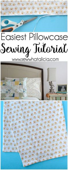 How to Sew Easy Custom Pillow Cases: These easy pillow cases are perfect for beginning sewers. This is an easy to follow pattern. Click through for the full tutorial.   www.sewwhatalicia.com