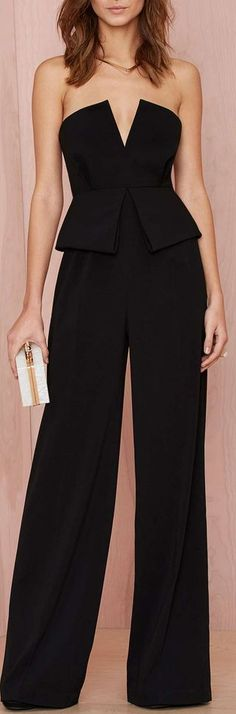 peplum jumpsuit. I want one then I want somewhere to wear it!