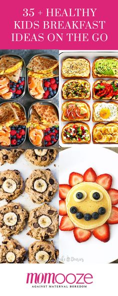 35 + Healthy Kids Breakfast Ideas on The Go | momooze.com | #kidsfood #kidsbreakfast #cookingforkids