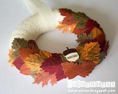 Colorworxx Herbstkranz mit Vintage Leaves von Stampin Up