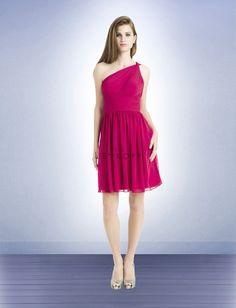 Flattering one-shoulder #bridesmaid #dress! Bill Levkoff Bridesmaid Dresses - Style 723