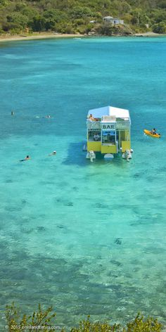 Floating Bar, Angels Rest, at Hansen Bay on St John& East End in the US Virgin Islands. Vacation Places, Dream Vacations, Vacation Spots, Places To Travel, Italy Vacation, Honeymoon Destinations, Snorkeling, Oh The Places You'll Go, Places To Visit