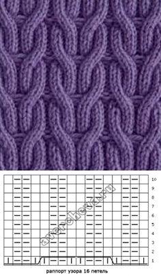 köpni gumit ki egy keresztbe a Lace Knitting Stitches, Knitting Paterns, Cable Knitting, Knitting Charts, Easy Knitting, Knitting Designs, Knit Patterns, Stitch Patterns, Hand Knitted Sweaters
