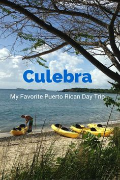 My Favorite Puerto Rican Day Trip – Culebra.   A short trip from San Juan or the eastern side of the island. With some of the most beautiful beaches, you will ever see. And it's only a $4.50 ferry ride away. A tropical getaway.