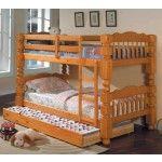 Acme Furniture - Benji Honey Oak Twin Over Twin Bunk Bed - 02575-78C