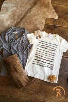 The Barb Wire - vintage barb wire graphic tee from Savannah Sevens Western Chic