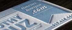 100 business cards   Custom Design  Letterpress  1 Color  236lb extra thick savoy cotton card