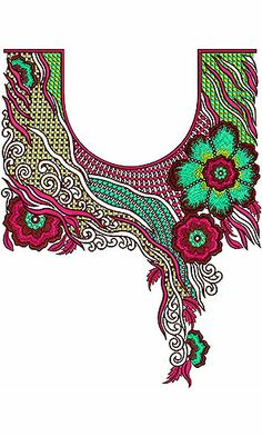 UAE Concept Neck & Sleeve Embroidery Pattern