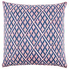 John Robshaw Royal Calcutta Turf Club Jal Euro Decorative Pillow. #laylagrayce #pillow #diamondpattern
